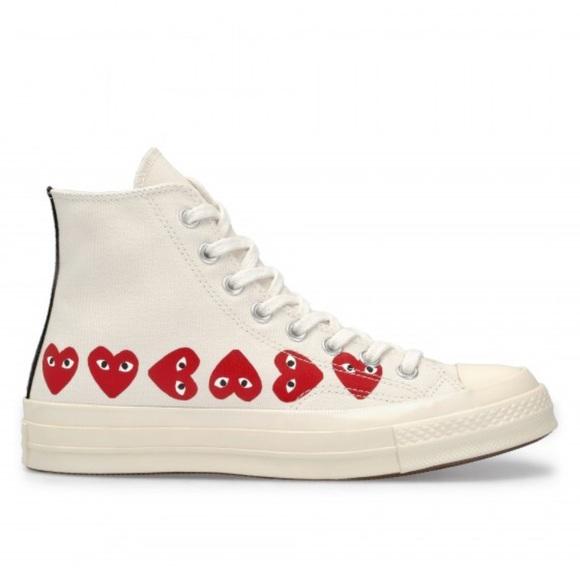 3512cd7658d0 Comme des Garcons Shoes - Converse PLAY Comme Des Garçon Multi Heart Sneaker